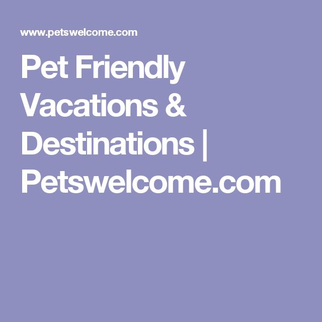 Pet Friendly Vacations & Destinations | Petswelcome.com