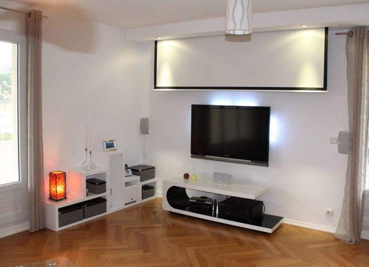 les 25 meilleures id es de la cat gorie t l vision murale sur pinterest unit s tv unit de. Black Bedroom Furniture Sets. Home Design Ideas