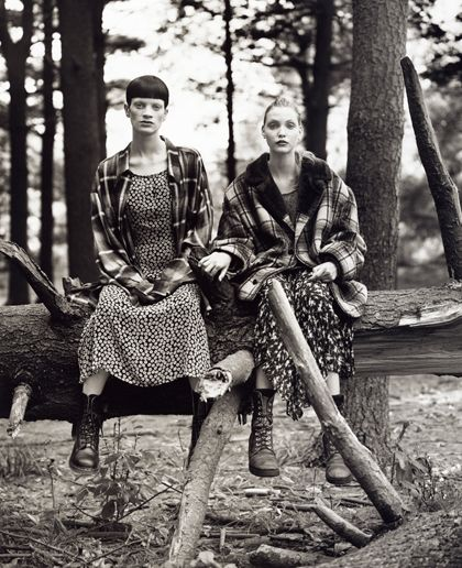 """Grunge fashion -- In 1993, Jean Paul Gaultier told Vogue that grunge """"is nothing more than the way we dress when we have no money""""."""