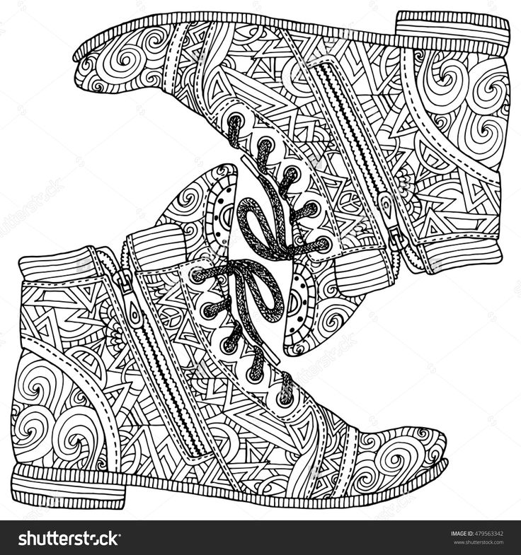 361 Best Images About Adult ColouringShoesFeetsHands Zentangles On Pinterest