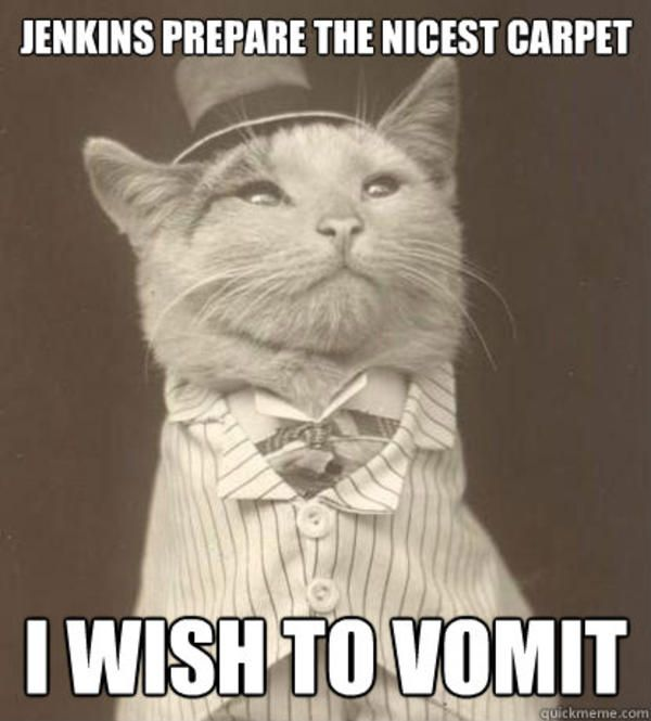 Jenkins Prepare The Nicest Carpet I Wish To Vomit Aristocat In 2020 Old Money Dog Cat Memes Cats