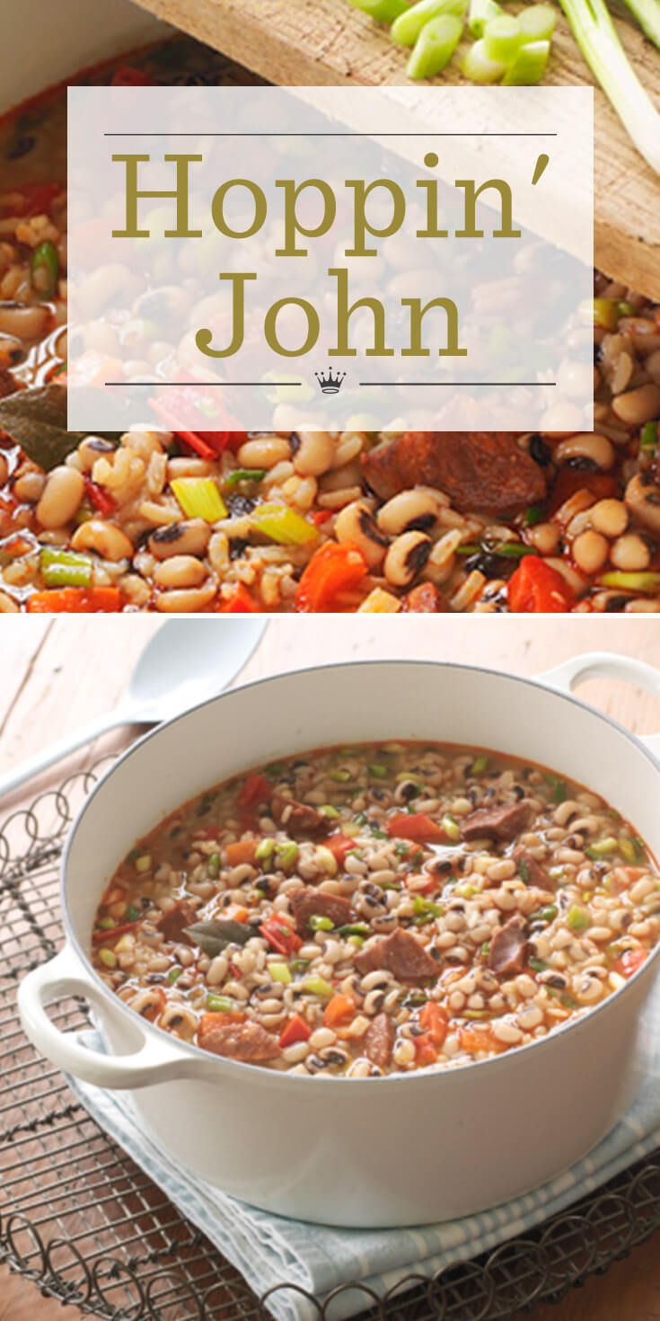 Dish up New Year's luck with a steaming pot of Hoppin' John! Our pot-licking-good Hoppin' John recipe is sure to become a tasty New Year's tradition.