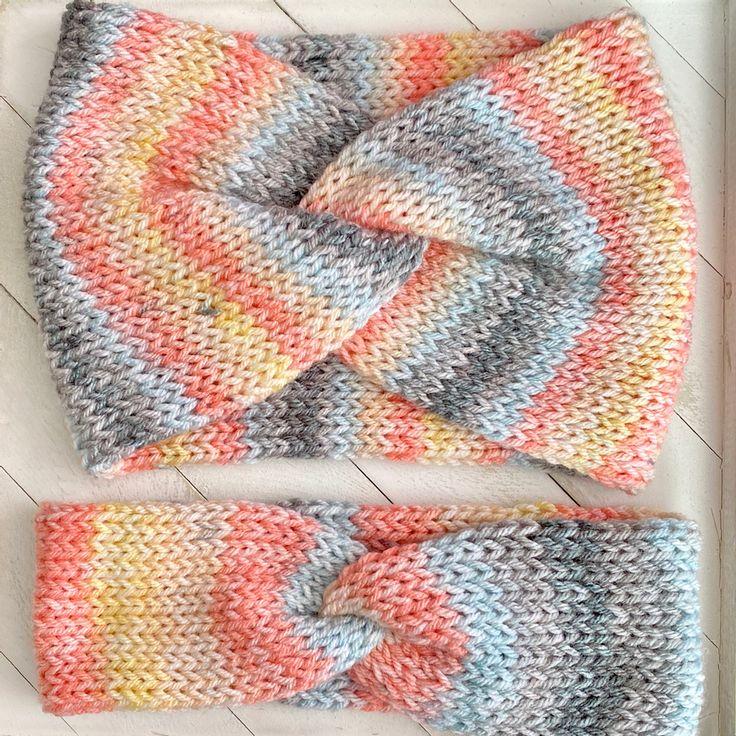 Knit Twisted Headband Pattern & Tutorial | Headband ...