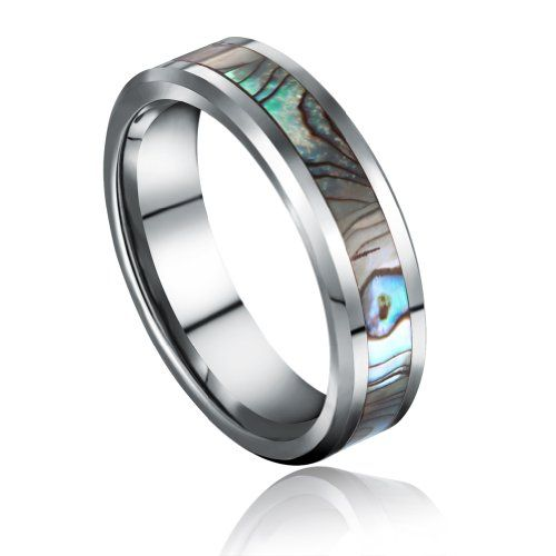 Tungsten Carbide Rings Width 6mm Comfort Fit High Polish with Abalone Shell Inlay Wedding Band Engagement Ring Fashion Jewelry As Gift for Womens and Mens Available in Sizes4.5-14.5 Cheapest (7.5) SOMEN TUNGSTEN,http://www.amazon.com/dp/B00AQCVJF2/ref=cm_sw_r_pi_dp_RZIrsb1GJT174WG2
