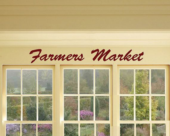 Farmers Market Sign, Farmers Market Decor, Farmers Market Vinyl Decal,Farmers  Market Art