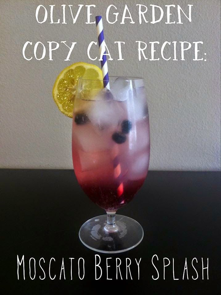 Olive Garden Copy-Cat Recipe: Moscato Berry Splash. Only 3 ingredients!