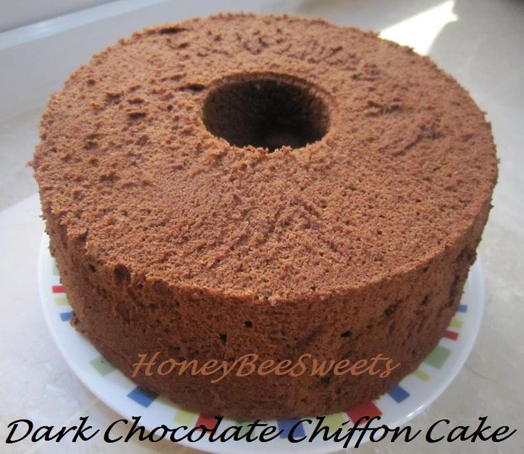 Honey Bee Sweets: Aspiring Bakers #1: Dark Chocolate Chiffon Cake