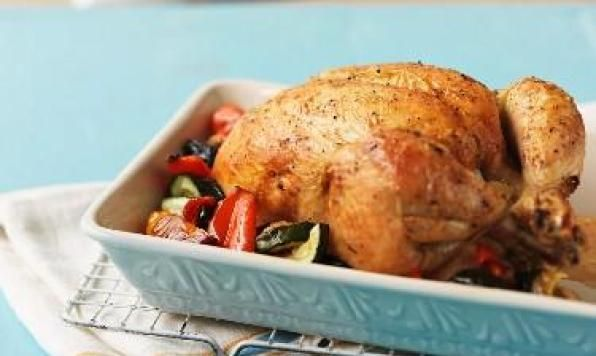 Pesto Roast Chicken with Vegetables is always a classic dinner idea.