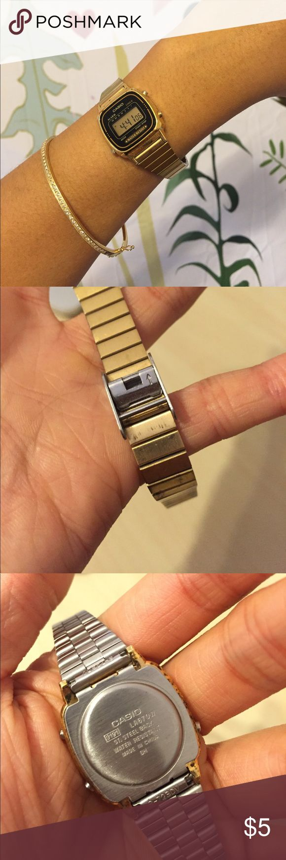 casio gold watch bought three years ago but still working well done casio Casio Accessories Watches