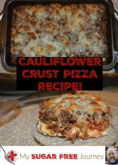 Sugar Free Cauliflower Pizza Crust Recipe!