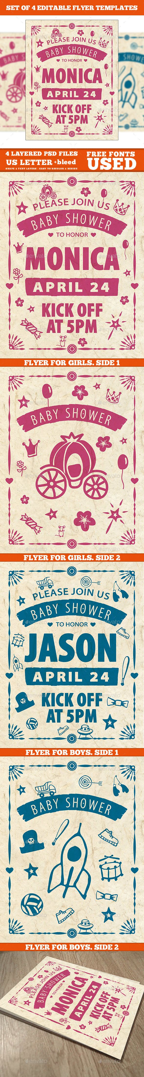 #Baby Shower #Invitation Template - #Flyers Print Templates