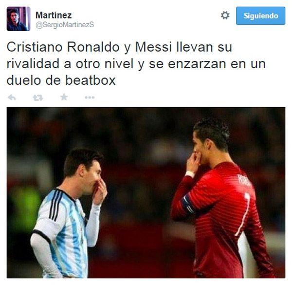 La rivalidad de Cristiano Ronaldo y Messi.