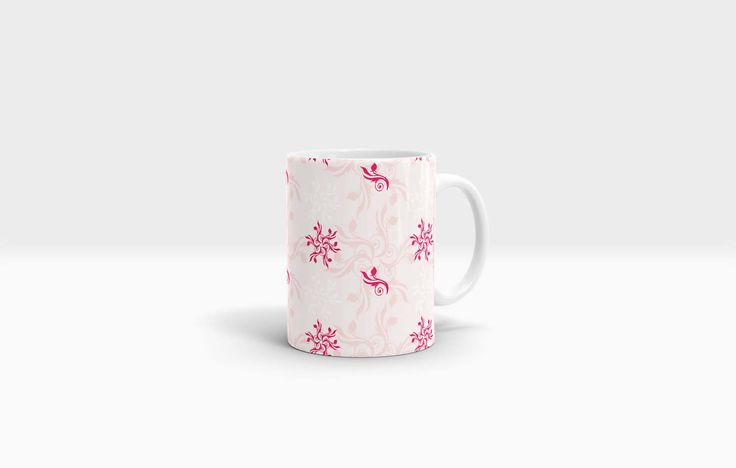 Floral Mug. 11oz Ceramic Mug. by NJsBoutiqueCo on Etsy