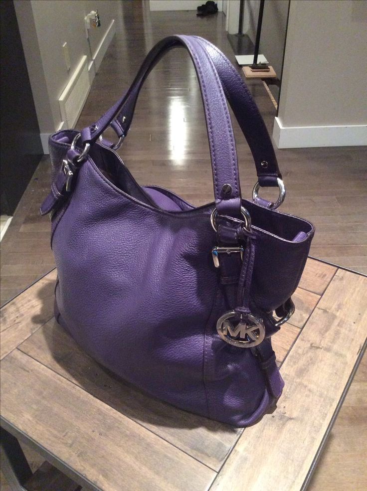 Designer purple purse
