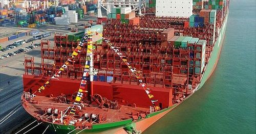 Owned by Mediterranean Shipping Company built by Daewoo in South Korea 395.4m long 30.3m deep and 59m in breadth; gross tonnage 193000 tons The Oscar will fly under a Panamanian flag and service trade routes between Asia and Europe http://ift.tt/1xHEph
