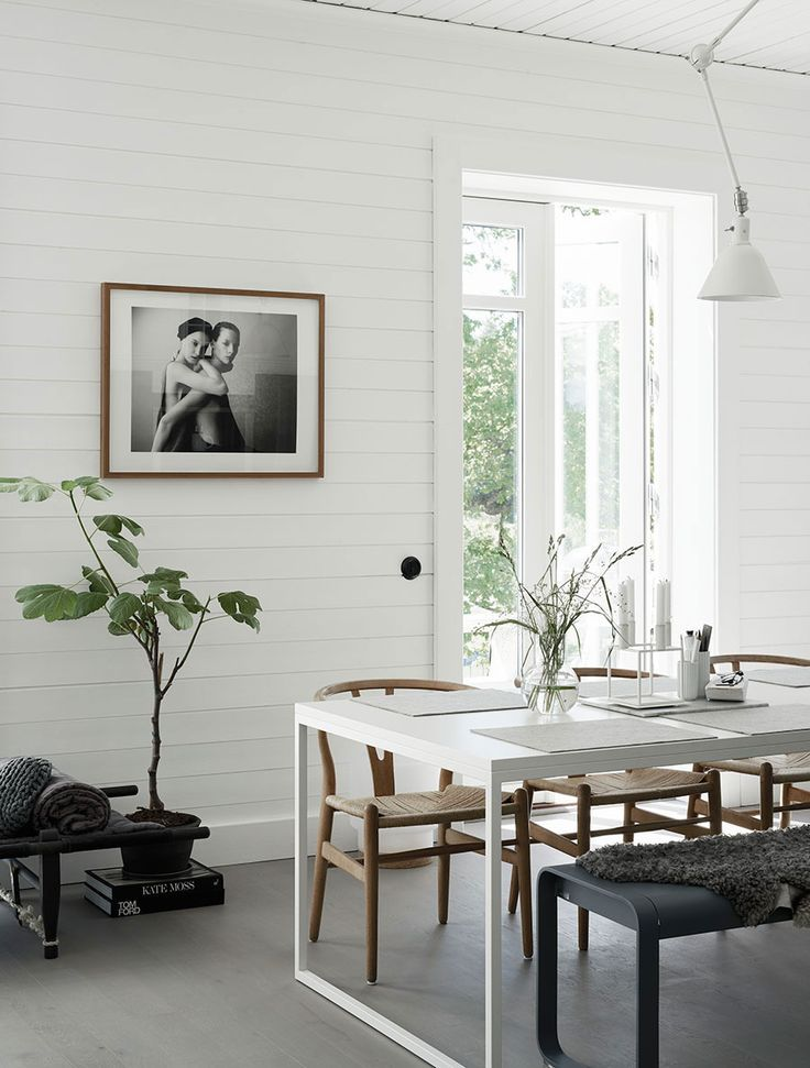 Gravity home scandinavian home of pella hedeby dining room wishbone chairs