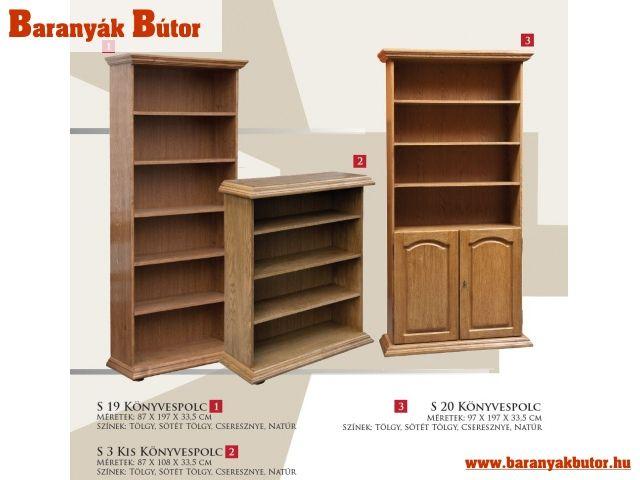 Több fajta könyvespolcot is megtalál kínálatunkban.  http://www.baranyakbutor.hu/index.php?menu=rusztikus-fabutorok&id=konyvespolcok