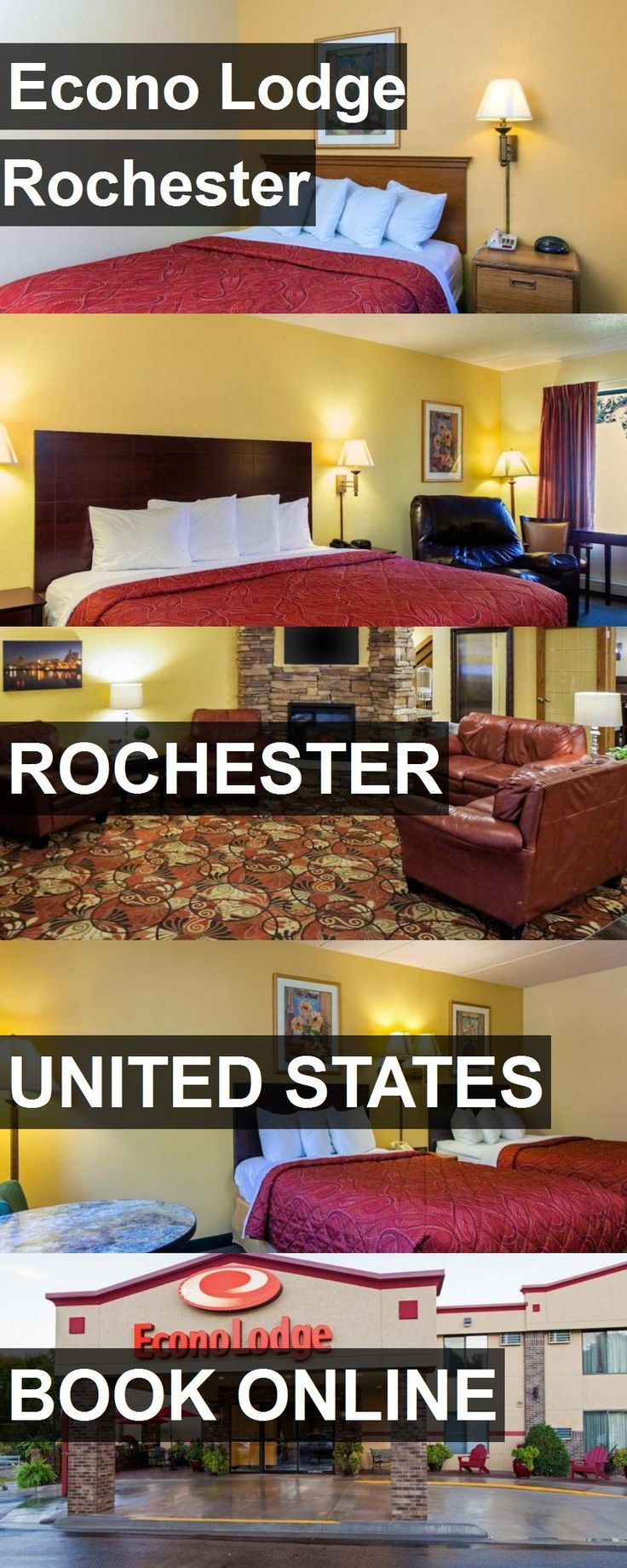 Hotel Econo Lodge Rochester in Rochester, United States. For more information, photos, reviews and best prices please follow the link. #UnitedStates #Rochester #travel #vacation #hotel