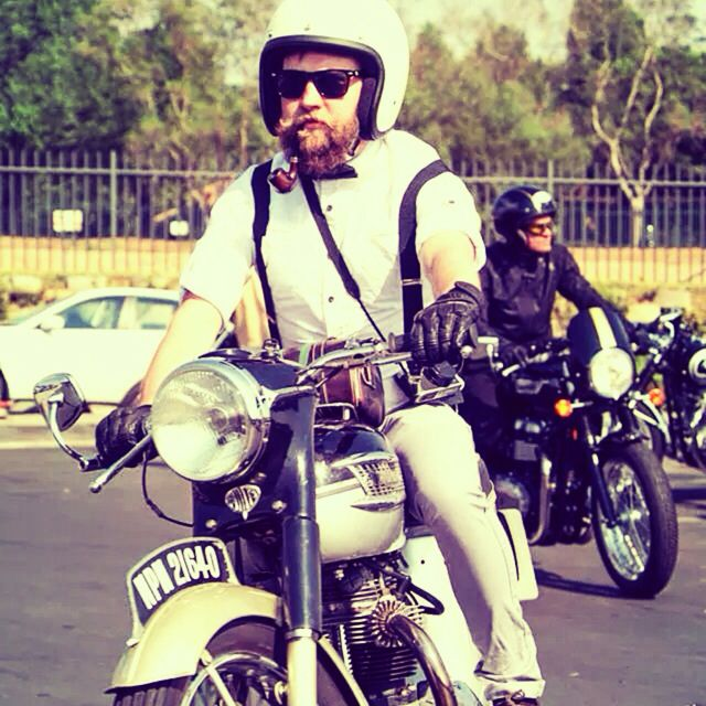 Distinguished gentaleman's ride 2014 #beards #bikes #awesomeness!!!