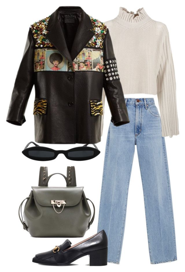 """""""Untitled #771"""" by szudi on Polyvore featuring Goldsign, Golden Goose, Prada, Gucci and Valentino"""