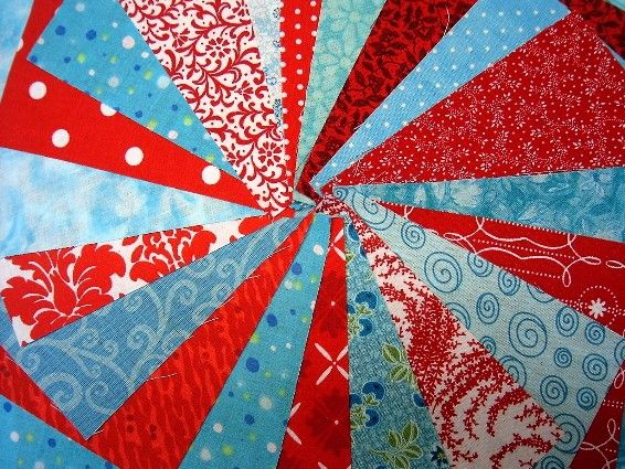 Red and Aqua Quilt Charm Squares  Die Cut Cotton by SEWFUNQUILTS, $6.85