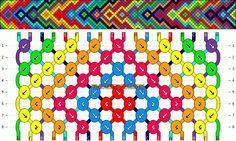 Normal Friendship Bracelet Pattern #11095 – BraceletBook.com – d i y