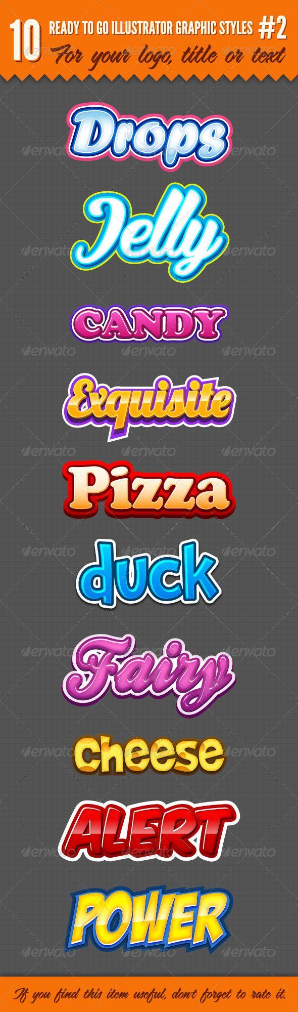 10 Logo Graphic Styles #2 - Styles Illustrator