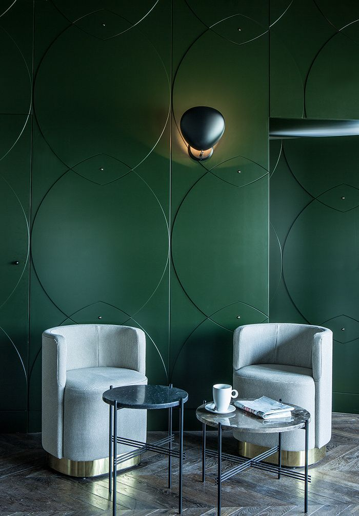 See more mid-century modern green interior design inspirations at http://essentialhome.eu/