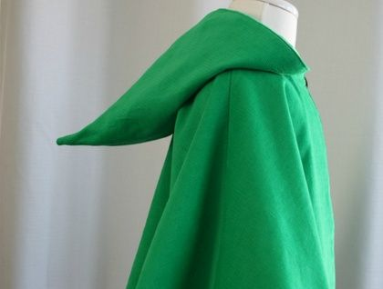 Green Woodland Cape with Pixie hood - Small from Zealous Design, New Zealand