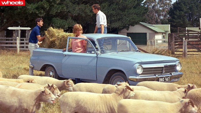 Iconic Aussie cars - Holden EH ute (my dad drove one for years, same blue colour)