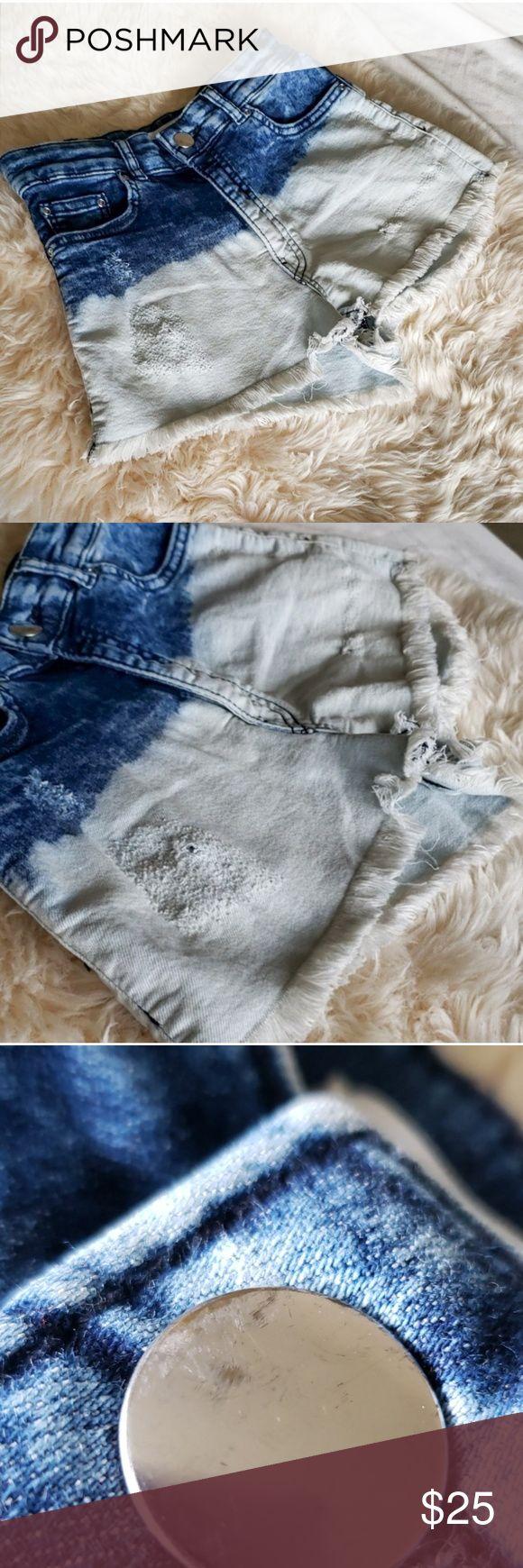Distressed H & M 2 Tone Coachella Shorts Super süße zweifarbige, tauchgefärbte Ombre …   – My Posh Picks
