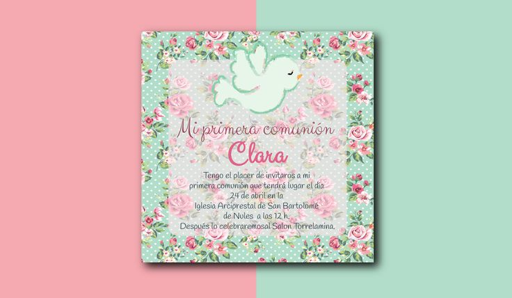 "Check out my @Behance project: ""First communion invitation templates""…"