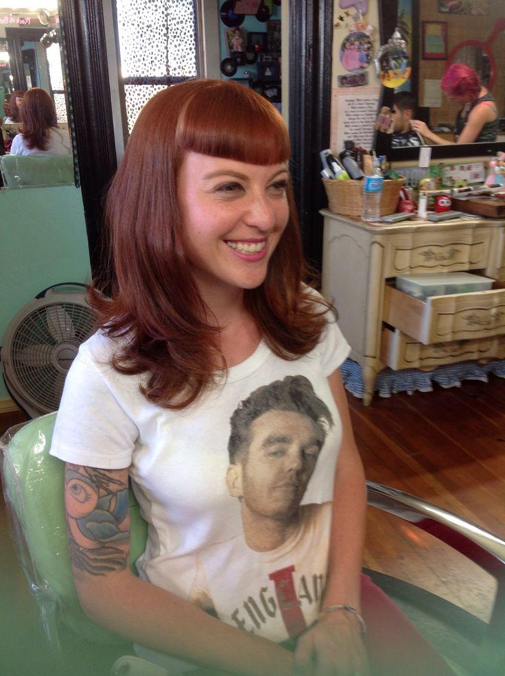 Betty bangs by Candy Schoen at Rock A Bettie's Beauty Shop