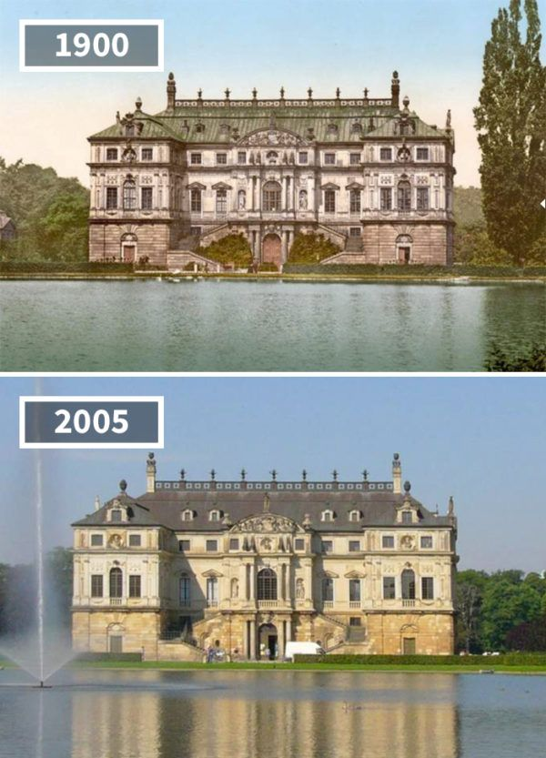Palais Im Grossen Garten Dresden Germany 1900 2005 Then And Now Pictures Then And Now Photos Pics