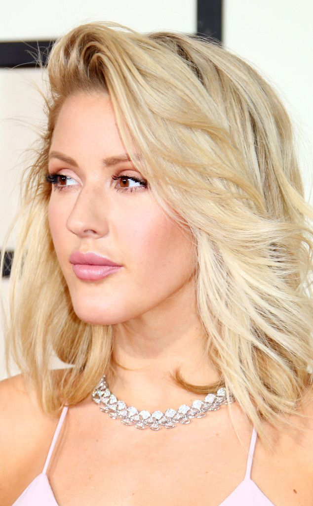 Ellie Goulding from Best Beauty at the 2016 Grammys  This pale beauty played down her usual makeup look and it REALLY worked. Pink is definitely her color.