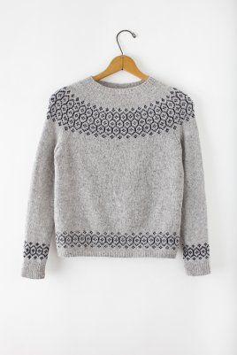Gorgeous 'Stasis pullover' from Brooklyn Tweed's Spring Thaw lookbook.