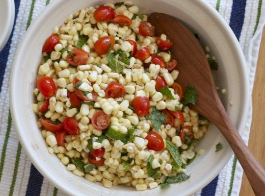 summer corn salad - 4 ingredients