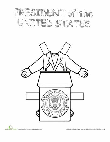 "Worksheets: Career Paper Dolls: The President.....Need this for my 4th graders ""If I was President"" family project."