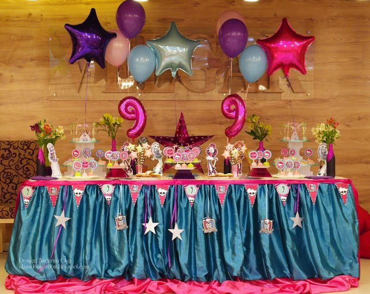 """Baiciurina Olga's Design Room: День Рождения в стиле мультика """"Monster High"""" - """"Monster High"""" birthday party!"""