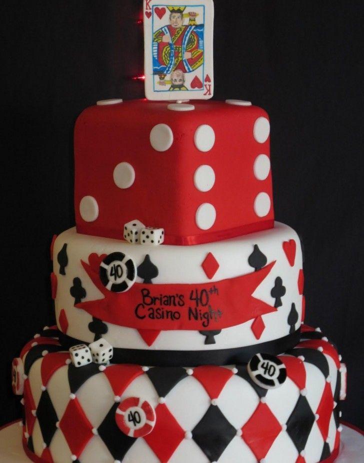 Cake Decor Idea , 8 Poker Themed Cake You Might Interested :  Poker Chips