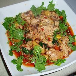 Szechuan (sichuan) gekruide kip (kipsalade) @ allrecipes.nl