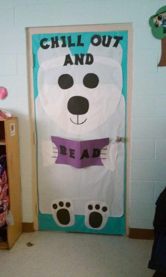 polar bear classroom door winter arctic theme reading ...
