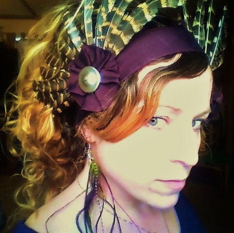 Tribal Wings Feather Headdress Cruelty Free by infinefeathers, $42.99