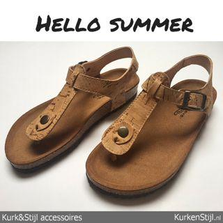Mooie en comfortabele slippers van kurk.