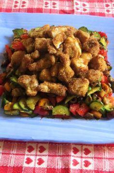 Insalata di pollo con verdure
