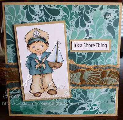 Shari M. has the Little Captain from Whimsy Stamps.  More details on the blog.
