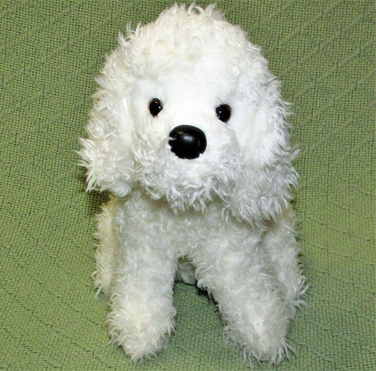 Douglas cuddle toys white poodle bichon frise dog 10