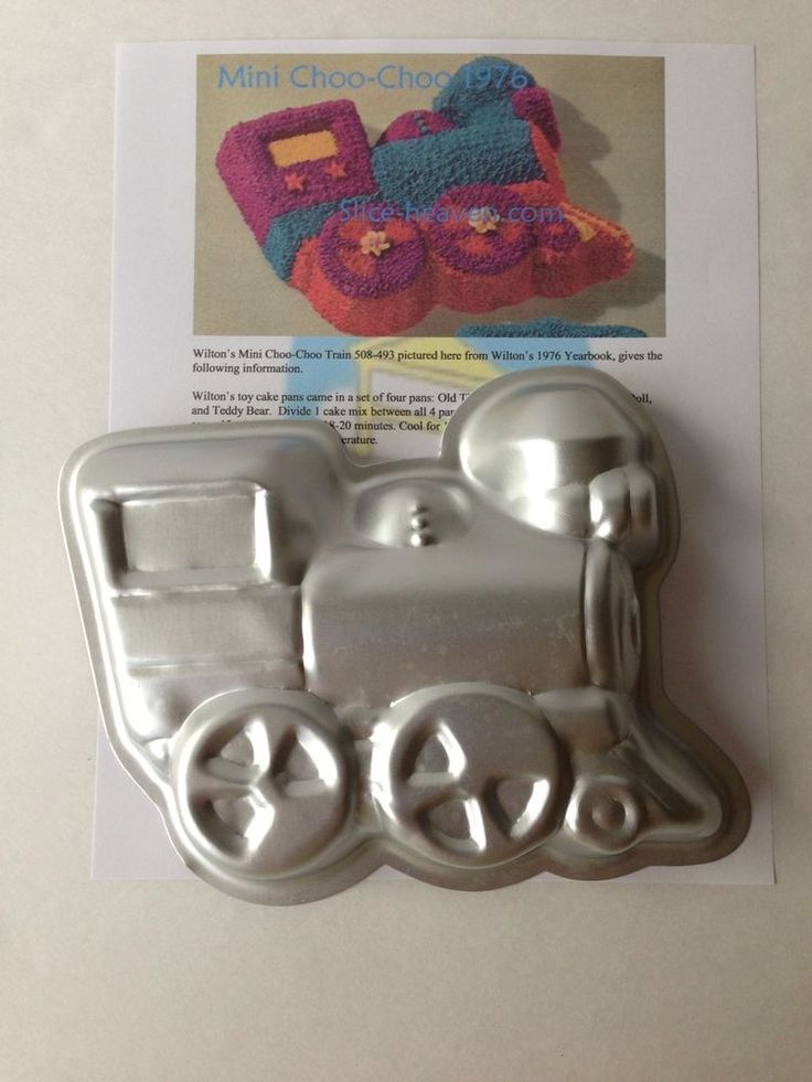 Wilton Mini Choo Choo Train Cake Pan Instructions Picture
