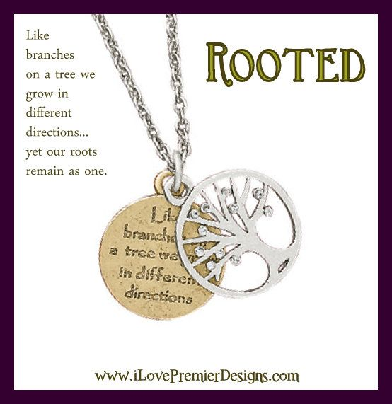 """""""Rooted"""" Premier Designs Jewelry 2014-2015 Contact me to find out more details. I love this piece because it is inspiring and pretty!"""