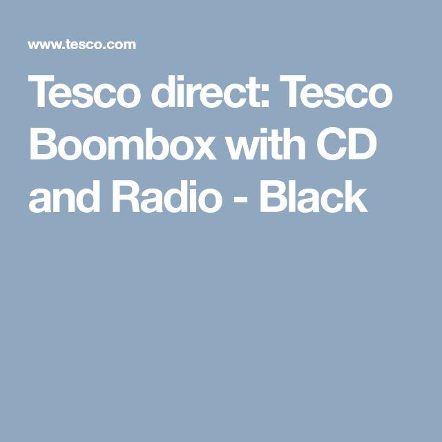 Tesco direct: Tesco Boombox with CD and Radio - Black